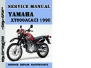 Thumbnail Yamaha XT600A(AC) 1990 Service Repair Manual Pdf Download