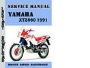 Thumbnail Yamaha XTZ660 1991 Service Repair Manual Pdf Download