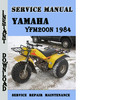 Thumbnail Yamaha YFM200N 1984 Service Repair Manual Pdf Download