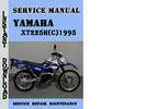 Thumbnail Yamaha XT225H(C)1995 Service Repair Manual Pdf Download