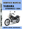 Thumbnail Yamaha XV250G(C) 1994 Service Repair Manual Pdf Download