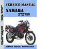 Thumbnail Yamaha XTZ750 Service Repair Manual Pdf Download