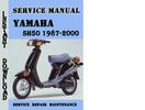 Thumbnail Yamaha SH50 1987-2000 Service Manual Pdf Download