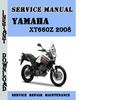 Thumbnail Yamaha XT660Z 2008 Service Repair Manual Pdf Download