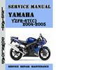 Thumbnail Yamaha YZFR-6T(C) 2004-2005 Service Repair Manual Pdf