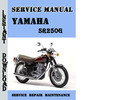Thumbnail Yamaha SR250G Service Repair Manual Pdf Download