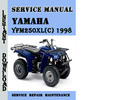 Thumbnail Yamaha YFM250XL(C) 1998 Service Repair Manual Pdf Download