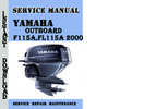Thumbnail Yamaha F115A,FL115A 2000 Service Repair Manual Pdf Download