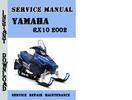 Thumbnail Yamaha RX10 2002 Service Repair Manual Pdf Download