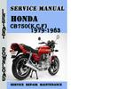 Thumbnail Honda CB750(K,C,F) 1979-1983 Service Repair Manual Pdf