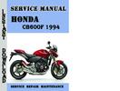 Thumbnail Honda CB600F 1994 Service Repair Manual Pdf Download