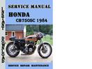 Thumbnail Honda CB750SC 1984 Service Repair Manual Pdf Download