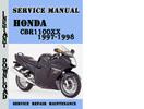Thumbnail Honda CBR1100XX 1997-1998 Service Repair Manual Pdf Download