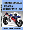 Thumbnail Honda CBR600F 1989-1990 Service Repair Manual Pdf Download