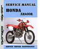Thumbnail Honda XR400R Service Repair Manual Pdf Download