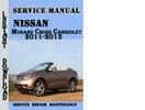Thumbnail Nissan Murano Cross Cabriolet 2011-2013 Service Manual
