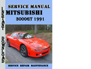 Thumbnail Mitsubishi 3000GT 1991 Service Repair Manual Pdf Download