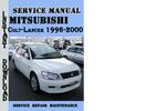 Thumbnail Mitsubishi Colt-Lancer 1996-2000 Service Repair Manual Pdf
