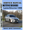 Thumbnail Mitsubishi Lancer Evolution 1999 Service Repair Manual