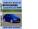 Thumbnail Mitsubishi Lancer Evolution 2006 Service Repair Manual