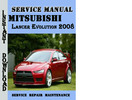 Thumbnail Mitsubishi Lancer Evolution 2008 Service Repair Manual