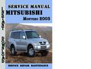 Thumbnail Mitsubishi Montero 2003 Service Repair Manual Pdf Download