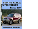 Thumbnail Mitsubishi Montero 2006 Service Repair Manual Pdf Download