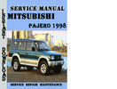 Thumbnail Mitsubishi Pajero 1998 Service Repair Manual Pdf Download