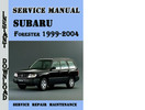 Thumbnail Subaru Forester 1999-2004 Service Repair Manual Pdf Download