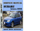 Thumbnail Subaru Impreza WRX 2005 Service Repair Manual Pdf Download