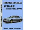 Thumbnail Subaru Impreza WRX 2006 Service Repair Manual Pdf Download