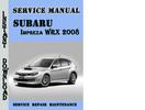 Thumbnail Subaru Impreza WRX 2008 Service Repair Manual Pdf Download