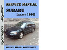 Thumbnail Subaru Legacy 1996 Service Repair Manual Pdf Download
