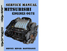 Thumbnail Mitsubishi Engines 6G72 Service Manual Pdf Download