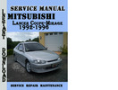 Thumbnail Mitsubishi Lancer Coupe-Mirage 1992-1996 Service Manual