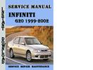 Thumbnail Infiniti G20 1999-2002 Service Repair Manual Pdf Download