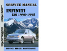 Thumbnail Infiniti I30 1996-1998 Service Repair Manual Pdf Download