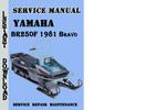 Thumbnail Yamaha BR250F 1981 Bravo Snowmobile Service Repair Manual