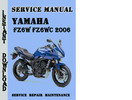 Thumbnail Yamaha FZ6W FZ6WC Fazer 2006 Service Repair Manual
