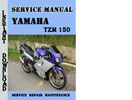 Thumbnail Yamaha TZM 150 Workshop Service Repair Manual Pdf Download