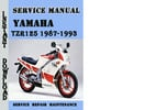 Thumbnail Yamaha TZR125 1987-1993 Service Repair Manual Pdf Download