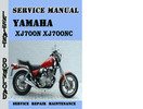 Thumbnail Yamaha XJ700N XJ700NC Service Repair Manual Pdf Download