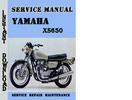 Thumbnail Yamaha XS650 Service Repair Manual Pdf Download