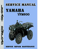 Thumbnail Yamaha YFM600 Service Repair Manual Pdf Download