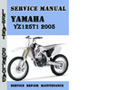 Thumbnail Yamaha YZ125T1 2005 Service Repair Manual Pdf Download