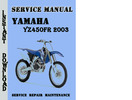 Thumbnail Yamaha YZ450FR 2003 Service Repair Manual Pdf Download