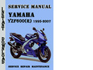 Thumbnail Yamaha YZF600 YZF600R 1995-2007 Service Repair Manual