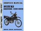 Thumbnail Suzuki DR200SE 1996-2009 Service Repair Manual Pdf Download