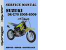 Thumbnail Suzuki DR-Z70 2008-2009 Service Repair Manual Pdf Download