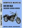 Thumbnail Suzuki GZ250 2002-2009 Service Repair Manual Pdf Download
